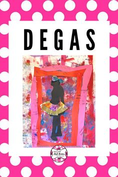 This is a fun spin on the famous sculptures by Degas. This art lesson for kids is full of fine motor work, creativity, and mixed media! Get your paints, your paper scraps, and coffee filters ready to create a beautiful art project for kids!  #partyintheartroom #degasforkids #artprojectforkids