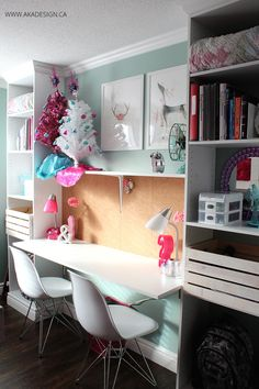 Girl's Room Makeover Reveal - With Built-in Storage!