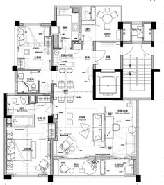 Hotel Floor Plan, House Floor Plans, Apartment Layout, Apartment Plans, House Layout Plans, House Layouts, Modern Architecture House, Architecture Plan, Interior Design Layout