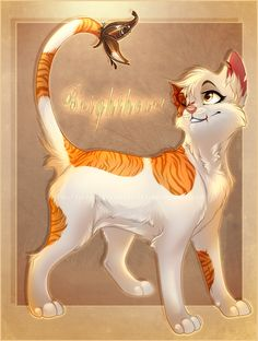 Warriors by Erin Hunter| Brightheart, ThunderClan, Warrior, Queen, and Cloudtail's mate. Brightheart has great strength.