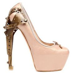 Alexander McQueen Titanic Ballerina Pump.  (i like the name of the shoe more than the shoe itself)