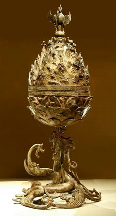 (Korea) Incense burner of gilt bronze. ca 600 CE. Korean Traditional, Traditional Design, Korean Art, Asian Art, Classical Art, Chinese Antiques, Ancient Artifacts, Western Art, Art Object