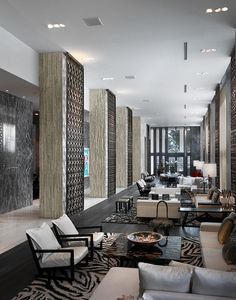 The lobby is responsible for creating the first impression when entering a home, office, hotel, etc. It's also the last space you see before you exit so Lounge Design, Design Entrée, Hotel Lobby Design, Design Ideas, Design Projects, Hotel Lounge, Lobby Lounge, Lobby Interior, Interior Exterior