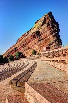 Ship Rock at Red Rocks Amphitheater, Colorado by dianne