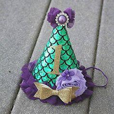 Sombrero del partido de la sirena verde y púrpura partido