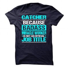 Awesome Tee For Catcher - #wedding gift #gift bags. PRICE CUT => https://www.sunfrog.com/No-Category/Awesome-Tee-For-Catcher.html?68278