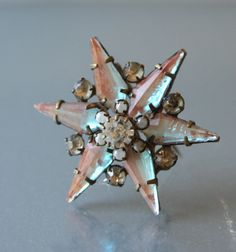 Antique SAPHIRET Edwardian Star Czechoslovakia by DresdenDollz, $350.00