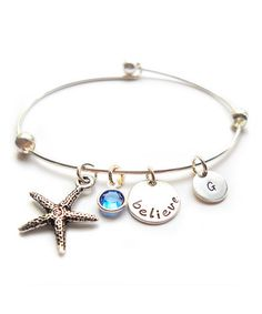 Look what I found on #zulily! Silver & Swarovski Crystal 'Believe' Initial Bracelet by The Sassy Apple #zulilyfinds