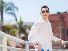 Men's Closet   Blog de Moda Masculina : Outfit Of The Day : White and Blue!