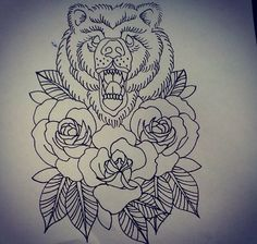 Cute for california bear and roses
