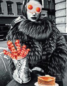 FEEDING MY FASHION   Bregje Heinen   Cedric Buchet #photography   Vogue Japan December 2012 #mixed_media #collage