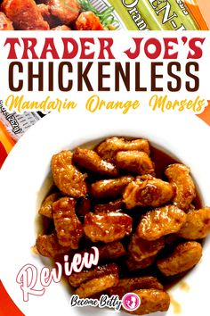 Trader Joe's Chickenless Mandarin Orange Morsels has returned to the frozen section. Previously, I had tried Trader Joe's Chickenless Mandarin Morsels. I loved them. They mimicked chicken very well. They were delicious. I personally preferred them over the non-vegan Orange Chicken.   | Become Betty @becomebetty #traderjoes #traderjoesfrozen #traderjoesasian #traderjoesvegan #traderjoesorangeveganchicken #traderjoesfan #traderjoesreview #becomebetty Easy Asian Recipes, Easy Appetizer Recipes, Best Dinner Recipes, Vegetarian Recipes Easy, Easy Chicken Recipes, Beef Recipes, Chinese Tea Eggs Recipe, Trader Joes Vegetarian, Easy Freezer Meals