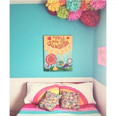 This would make us happy when skies are gray! #rainbow bedroom by michellemonk  #HomeGoodsHappy via Instagram