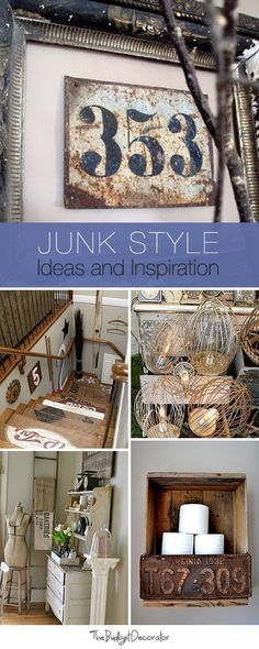 Junk Style Decorating  Ideas, Inspiration & lots of Tutorials!