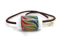 flame bead - by Carla di Francesco, Germany Lampwork glass bead