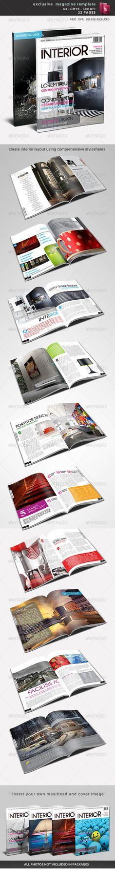 Print Templates - Exclusive Magazine Template | GraphicRiver