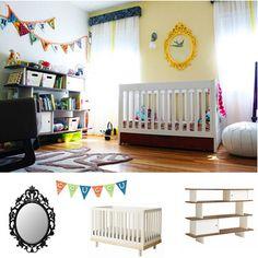 Une chambre bébé pas du tout bébé. Tellement chic!