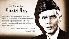 "Founder of Pakistan ""Quaid-e-Azam, Muhammad Ali Jinnah"" was born on 25 December, 1876. in Karachi. Today is the 138th Birth Anniversary of Quaid-e-Azam Muhammad Ali Jinnah, on Thursday. Quaid-e-Aza..."