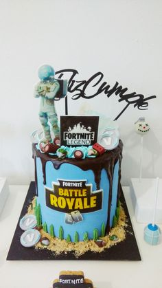 18 Videojuegos Tortas Fortnite Brownies Decoración