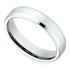 Beveled Men's Wedding Ring in Palladium (4mm)