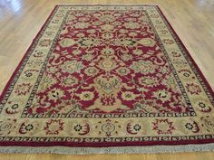 Buy 6' x 9' Burgundy Pure Wool Handmade Rajasthan Thick and Plush Oriental Rug moaBD8D0 #Burgundy-rugs #rugs #carpet #wool-rugs #handmade #oriental