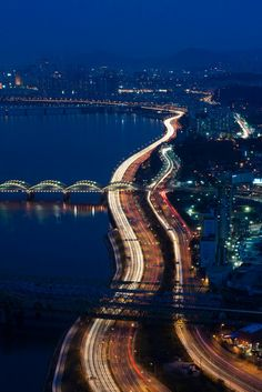 Han River night view ~ in Seoul, South Korea - next year for sure! South Korea Seoul, South Korea Travel, Places Around The World, Travel Around The World, Around The Worlds, Places To Travel, Places To See, Travel Destinations, Travel Europe