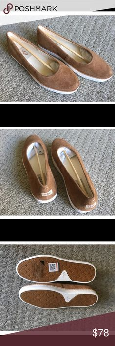 NWB Ugg Kammi suede leather flats chestnut size6.5 Brand new with box.Feel free to contact. UGG Shoes Flats & Loafers