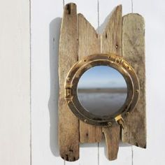 Driftwood Porthole Cabinet | Bathroom Cabinet | Nautical Decor - buy the sea