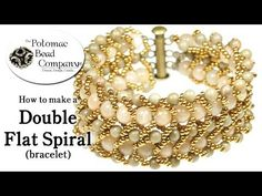 Video:  Make a Double Flat Spiral Bracelet - Potomac Bead Company  #Seed #Bead #Tutorials