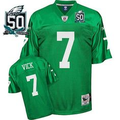 hot sale online 92583 c92f5 mitchell and ness philadelphia eagles ron jaworski 7 green ...