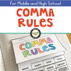 Comma Rules Interactive Notebook Flipbook by Mixed-Up Files | Teachers Pay Teachers
