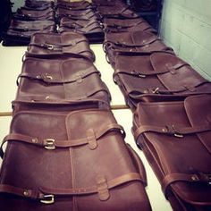 Lotuff leather briefcases, The English Briefcase, In the Factory