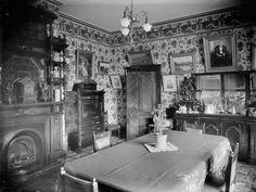 Dining room interior, by Steffano Webb, ca. 1905. Alexander Turnbull Library. 1/1-010487