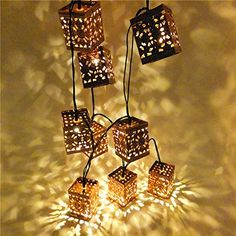 Sunniemart 10 LED Lantern Warm White String Lights Solar Powered Outdoor Decorative Lights Fairy Lights Ideal for Christmas Wedding Party Festival Decoration