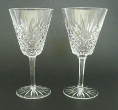 Ajka Crystal 8 oz Wine Glasses Clear Criss-Cross Fan Pattern Czech Hungary MINT #Ajka Flute, Criss Cross, Champagne, Crystals, Tableware, Dinnerware, Flute Instrument, Dishes, Flutes