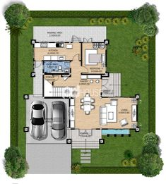 W-134 House Plans, Floor Plans, Modernism, House Floor Plans, Home Floor Plans, Home Plans