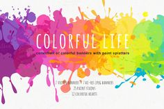 Colorful life by harmonia_green_art on Creative Market