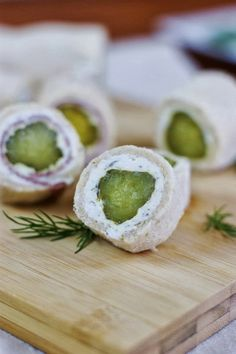 Dill Pickle Bites ~ the crunch and zing of dill pickles in a tasty little bite!   www.thekitchenismyplayground.com