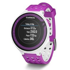 Garmin Forerunner 220 White-Violet Running Watch  - Women's Sports Watches