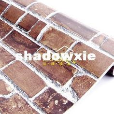 Wholesale Wall Paper - Buy Pvc Wallpaper Dark Color Bricklike 1069 Balcony Rustic Brick Furniture Stickers | DHgate