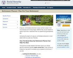 SSA Retirement Planner: Plan for Your Retirement