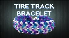NEW Tire Track Rainbow Loom Bracelet Tutorial-ORIGINAL DESIGN (TutorialsByA)