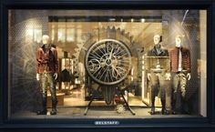 Belstaff holiday windows display by Checkland Kindleysides