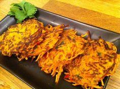 Maak deze heerlijke rösti van zoete aardappel als bijgerecht bij je diner of als lunch met een salade. Receptvoor 2 tot 3 personen (bijgerecht)...
