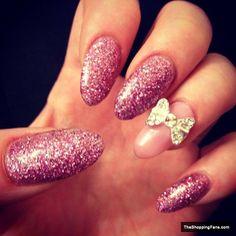 colrful stiletto nail art