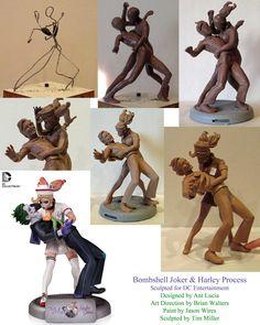 Bombshell Joker Harley Process by TKMillerSculpt on DeviantArt