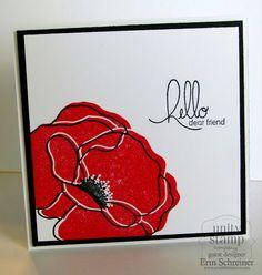 Unity Stamp Company: Poppy Card {Guest Designer Erin Schreiner}