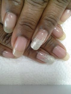 #naturalnails #geloverlay #glitter #ombre by #moemossant