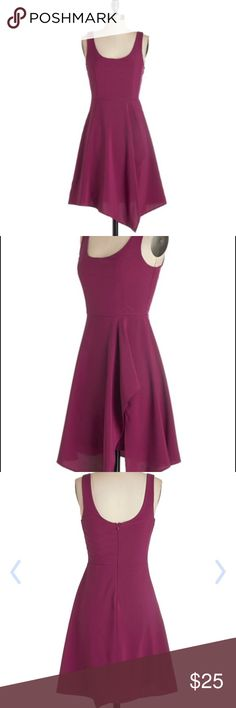 """Modcloth """"just an orchid at heart dress"""" Beautiful orchid purple dress with asymmetrical hem. Sold out at Modcloth! In great condition, only worn once! ModCloth Dresses Asymmetrical"""