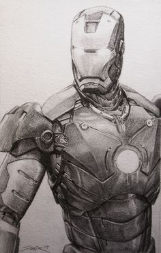 Iron Man in Pencil // by Wulfsbane (2009)